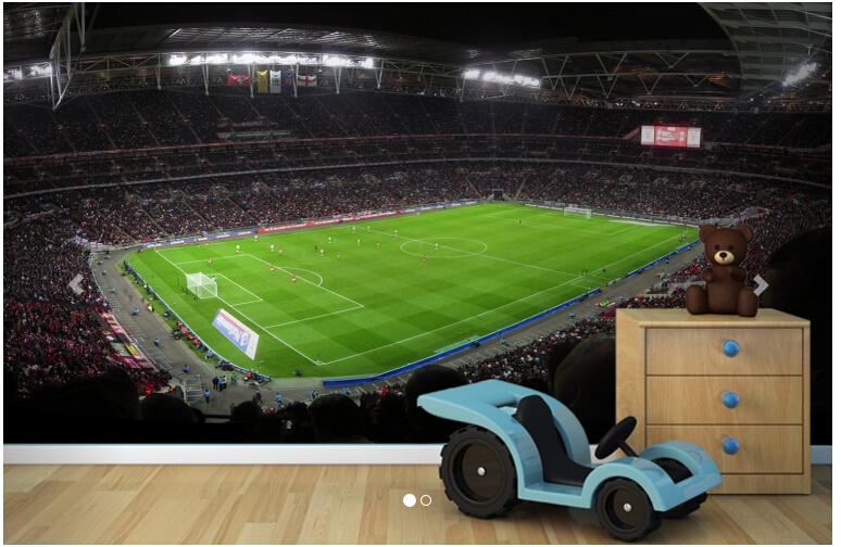 Custom 3 d stereoscopic wallpaper, Night Time Wembley Stadium for children room living room TV wall vinyl papel DE parede custom baby wallpaper snow white and the seven dwarfs bedroom for the children s room mural backdrop stereoscopic 3d