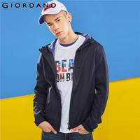 Giordano Men Jacket Windproof Polar Fleece Hooded Jacket Warm Pocket Casual Slim Jacket Male Quality Solid Giacca
