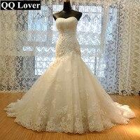 QQ Lover 2018 роскошный Крозе лиф «русалка» свадебное платье Одежда высшего качества на заказ плюс Размеры невесты свадебное платье