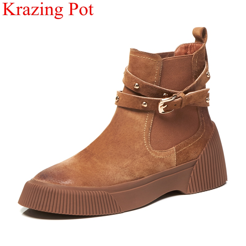 Hot Sales Women Boots Fashion Styles Ankle Shoes High Quality Genuine leather Casual Shoes Woman Winter