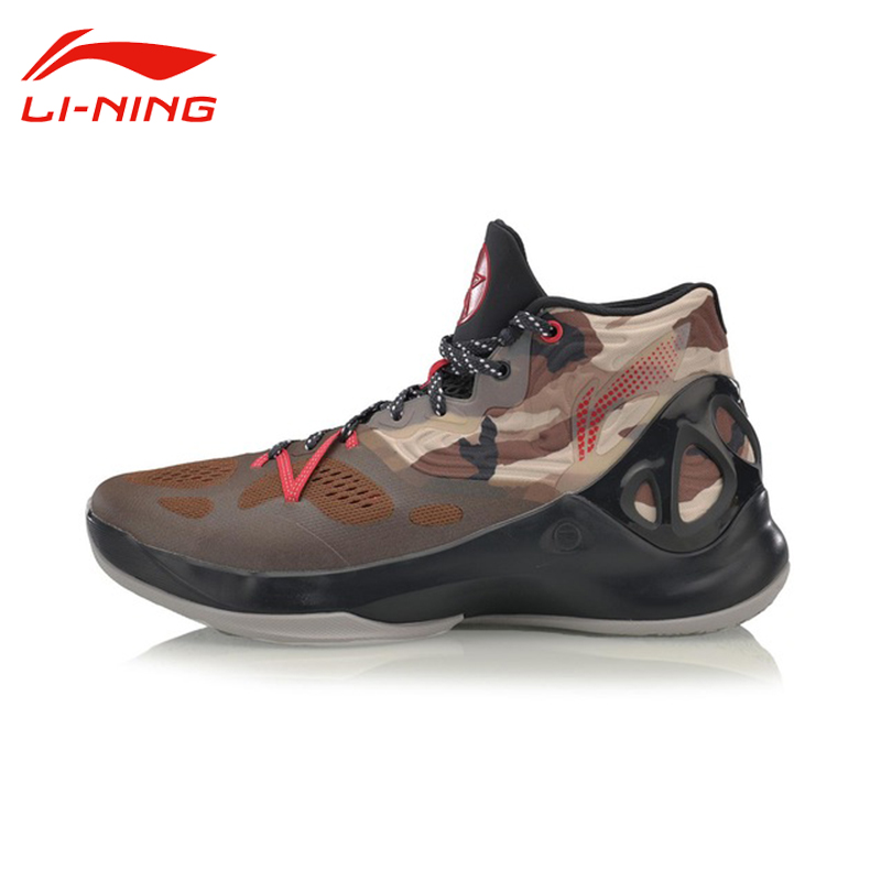 Li-Ning Man's Sonic V Camouflage Basketball Shoes Damping LINING Breathable Support Professional Sneakers Sports Shoes ABAM019 li ning brand men basketball shoes sonicv series professional camouflage sneakers support lining breathable sports shoes abam019