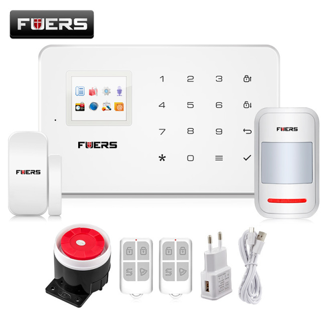G18 Android App iOS App control wireless security system gsm  alarm system wireless magnetic window sensor+motion detector