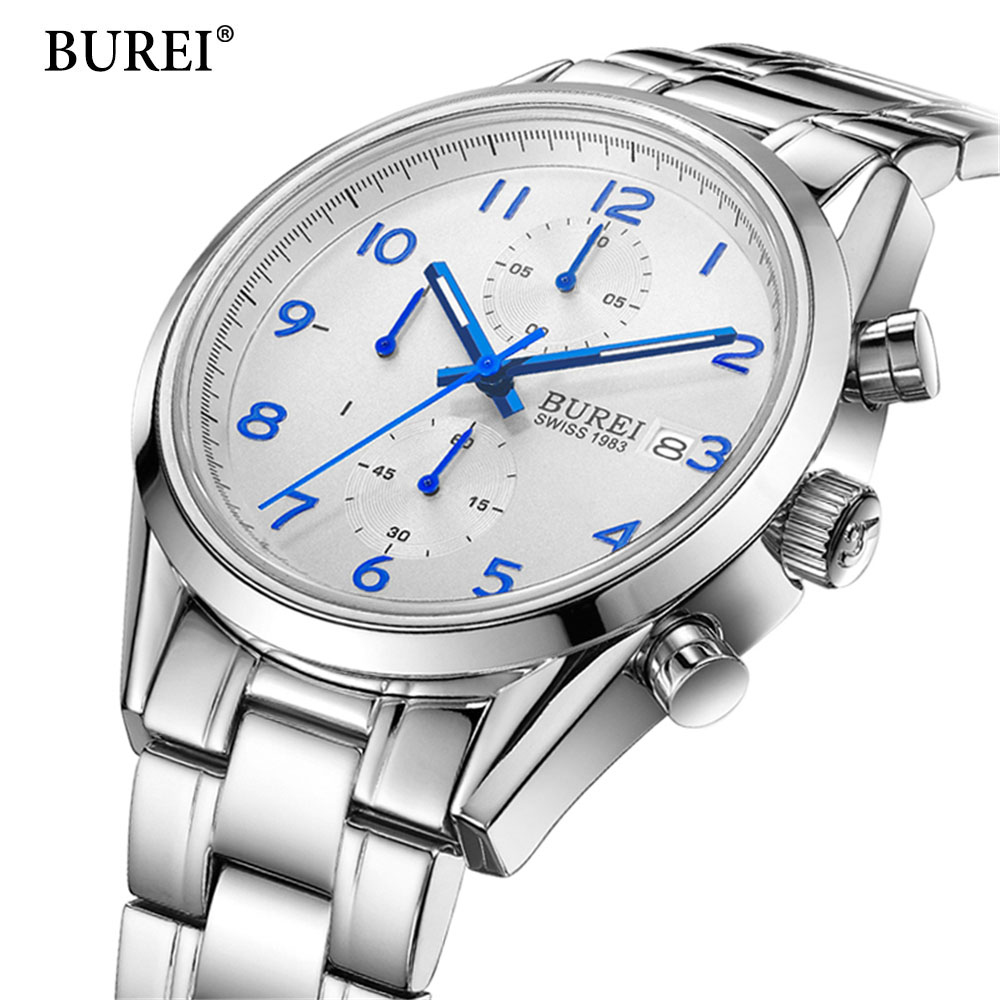 2017 Top Brand Men Sports Quartz Watch Casual Wristwatch Business Stainless Steel Analog Quartz Watch Men's Relojes Hombre relojes hombre 2018 nibosi dress brand watch men waterproof men s quartz watch business analog wristwatch stainless steel saat