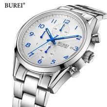 2017 Top Brand Men Sports Quartz Watch Casual Wristwatch Business Stainless Steel Analog Quartz Watch Men's Relojes Hombre