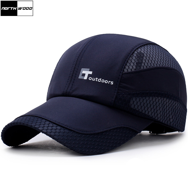 [NORTHWOOD] High Quality Summer   Baseball     Cap   Men Sun Hat Women Snapback Bone Casquette Homme Solid Summer Trucker   Cap   Mesh