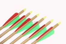 Longbowmaker 12PCS 33 Inches Fiberglass Target Practice Arrows WFG5