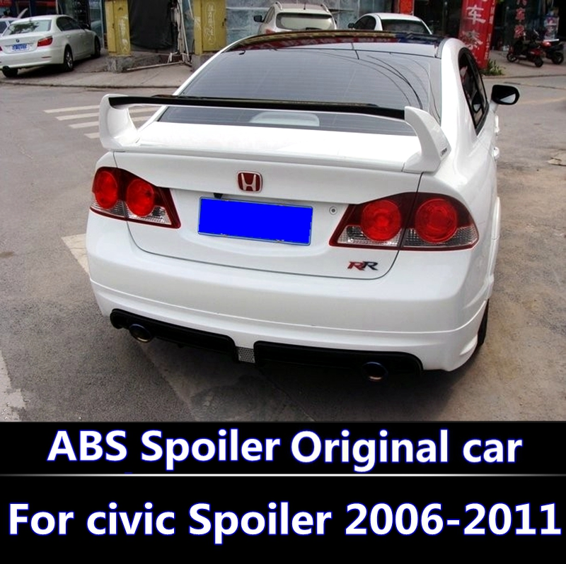 For Honda Civic 2006-2011 Spoiler High Quality ABS Material Car Rear Wing Primer Color Rear Spoiler For Honda Civic Spoiler FD2 цена