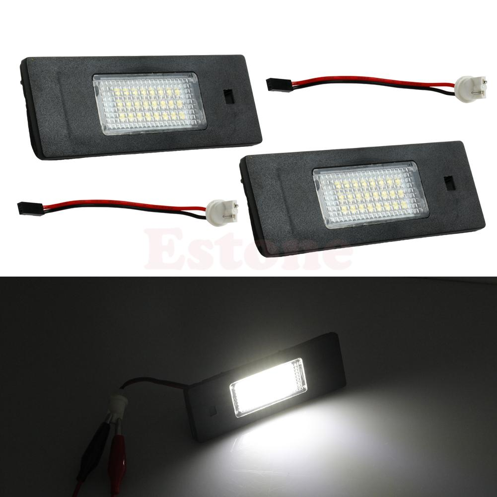 hight resolution of 2x 24 led for bmw z4 e63 e64 e81 e85 e87 650i m6 error free license plate light car light source in car light assembly from automobiles motorcycles on