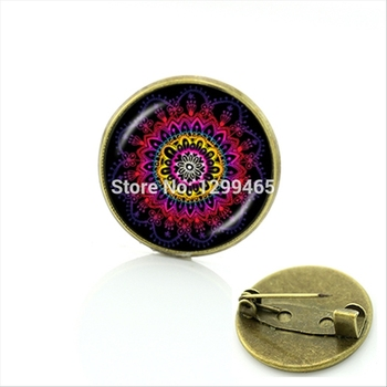 2017 New Real Broche Horoscope Indian Jewelry Zen Yoga Brooch Tron Geometry Decoration Art The Best Gift To Give Friends C 377 image