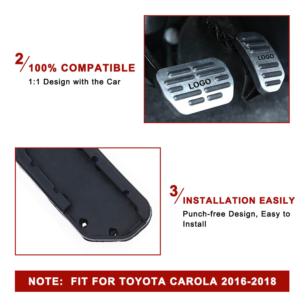 Image 4 - Auto Pedal Cover for Toyota Corolla RAV4 2016 2018 Car Accerator Gas Fuel Brake Pedal Cover Set Interior Decorative Accessories-in Pedals from Automobiles & Motorcycles