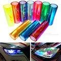 30 cm * 1 m Camaleão Brilhante Auto Car Styling luzes Virou filme Mudança de Cor Do Carro Faróis Taillights Translúcido Varas decoração