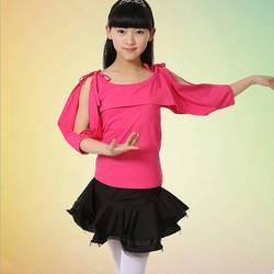 Детская Костюмы для латиноамериканских танцев Salsa танец Топы Корректирующие + юбка Обувь для девочек конкурс танцевальная одежда костюмы