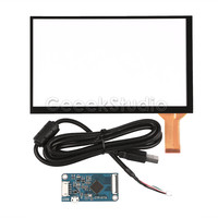 New 7 Inch Capacitive Touch Glass Digitizer Panel Sensor Kit With CTP Driver Board And USB