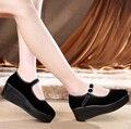 Танец Насосы Женщины Работа Одного Туфли На Платформе В Малых размеры Для Черный Мэри Джейн Криперс Толстые Подошве Удобные Мори девушка