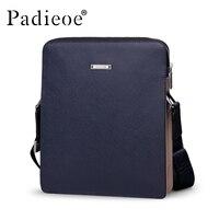 Padieoe бренд высокое качество Разделение кожа Для мужчин сумка Повседневное небольшой мужской Crossbody Курьерские сумки