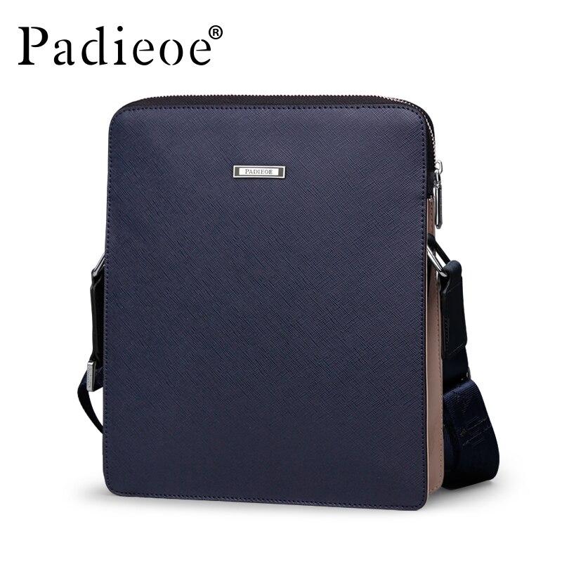 3b7aab813069 Padieoe бренд высокое качество разделение кожа для мужчин сумка  повседневное маленький мужской Crossbody курьерские Сумки