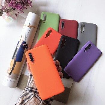 Матовый однотонный фиолетовый чехол для телефона Xiaomi Redmi Note Mi 4A 4X 5 5A 6 6A 7 8 8SE 9 9SE Lite Pro мягкий чехол из ТПУ