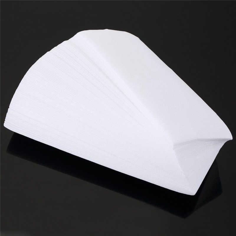 80 adet/grup Tüy Dökücü Nonwoven Epilasyon Epilatör balmumu şerit kağıt rulosu Ağda Sağlık Güzellik Pürüzsüz Bacaklar