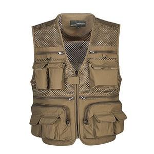 Unloading Tactical Vest Coat Fashion Men's Summer Photographer Waistcoat Mesh Work Sleeveless Jacket Tool Many Pocket Vest Male