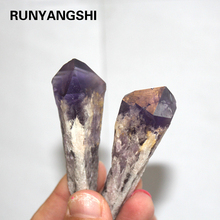 Natural Solid Purple Amethyst Point Quartz Crystal Stone Mineral Specimen For Home Decoration backbone specimen
