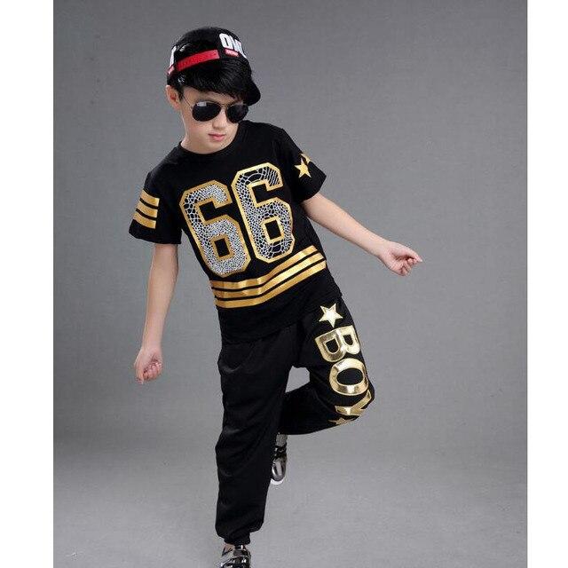 d3f07c0f US $12.99  Dzieci Dorośli Modern Jazz Spodnie Dresowe Stroje nosić Chłopcy  Dziewczyny Ballroom dancing Kostiumy Hip Hop Dancewear w Dzieci Dorośli ...