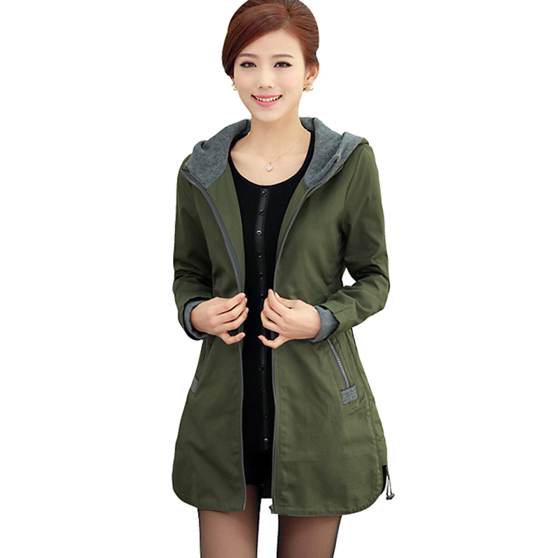 New Female Outerwear Spring and Autumn Women's Plus Size Casual Jacket Fashion Female Coat Women Clothes M-5XL ZY1437