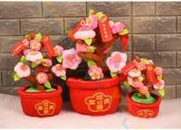 Party Favor Spring Festive Mascot Ornament Wedding Photo Props Peach Orange Fortuna Doll Chinese New Year