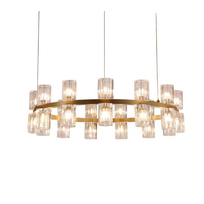 24 30 candelabros modernos de cristal lámpara LED Metal dorado LUZ DE SUSPENSIÓN iluminación del hogar para sala de estar dormitorio luces PA0082