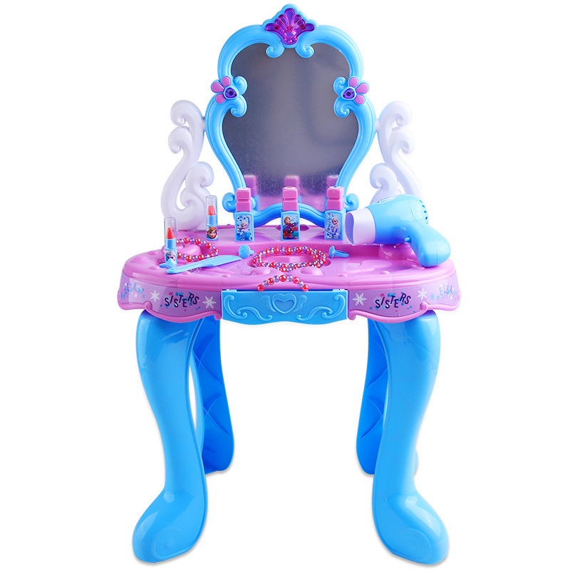 Beauty 2018 new Disney girls 3-5-6 years old play dresser toys children simulation cosmetics music makeup box set Christmas