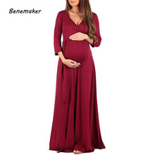 Autumn Long Maternity Dresses