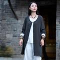 Де Голубь 2016 женщин новый литературный свежий все матч с длинным рукавом пальто хлопка белье кардиган однобортный femme осень пальто