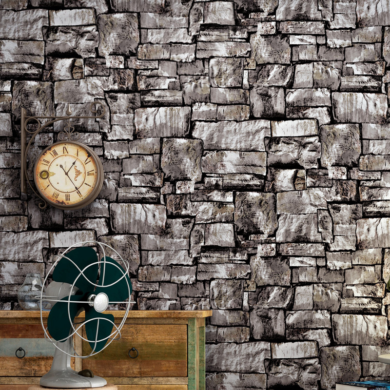 Vintage 3D Effect Imitation Stone Brick Wall Wallpaper For Living Room Bedroom Background Wall Decor Brick Vinyl Wallpaper Roll beibehang stone brick wall 3d wallpaper roll modern retro pvc vinyl wall bedroom living room background wallpaper for walls 3 d