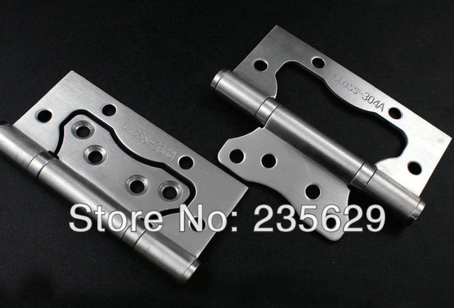 Free Shipping,4inch Sub Mother Hinges, 304 Brushed Stainless Steel Hinges  For Interior