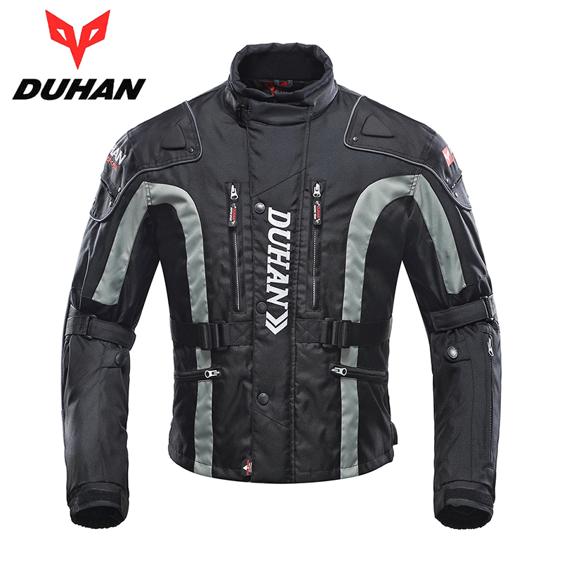 DUHAN Motorcycle Jacket Motocross Riding Windproof Jaqueta Clothing with Cotton Liner MX/Off-Road/Dirt Bike Racing Patrol Jacket