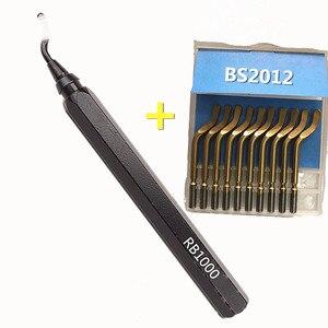 Image 5 - مقبض ألمونيوم معدني جهاز تشذيب عالي الجودة ، مقبض حديد ، لقط سريع ، مقبض إزالة الحواف ، مقبض معدني للتزيين RB1000