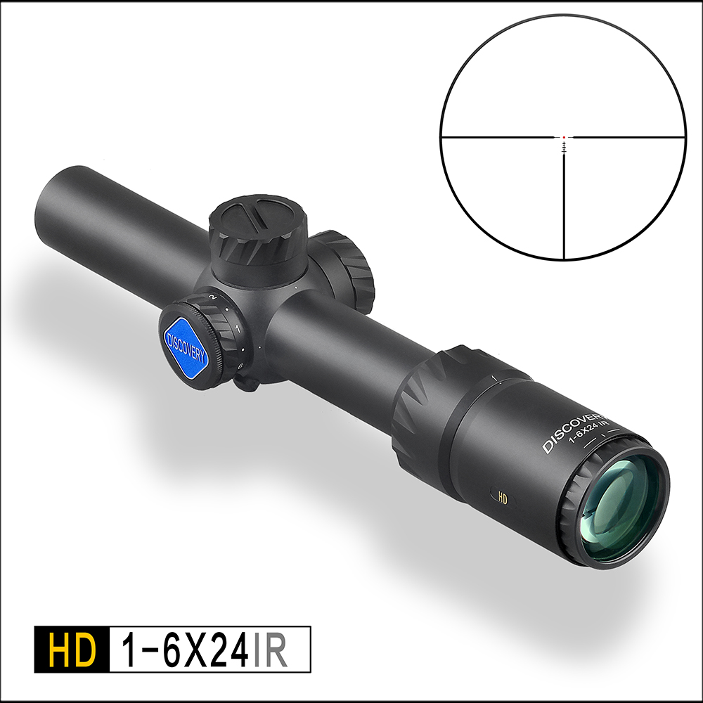 Discoverer outdoor optical air rifle sight HD 1-6X24IR short aim fast fixed double sniper mirror tactical scope