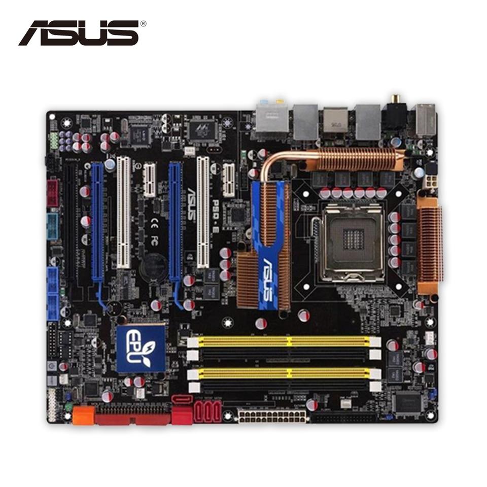 цена Asus P5Q-E Desktop Motherboard P45 Socket LGA 775 DDR2 16G SATA2 USB2.0 ATX