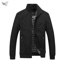 XIYOUNIAO Solid color New 2018 Casual Jacket M-5XL 6XL 7XL Men Spring Autumn Outerwear Standing collar Business jacket man