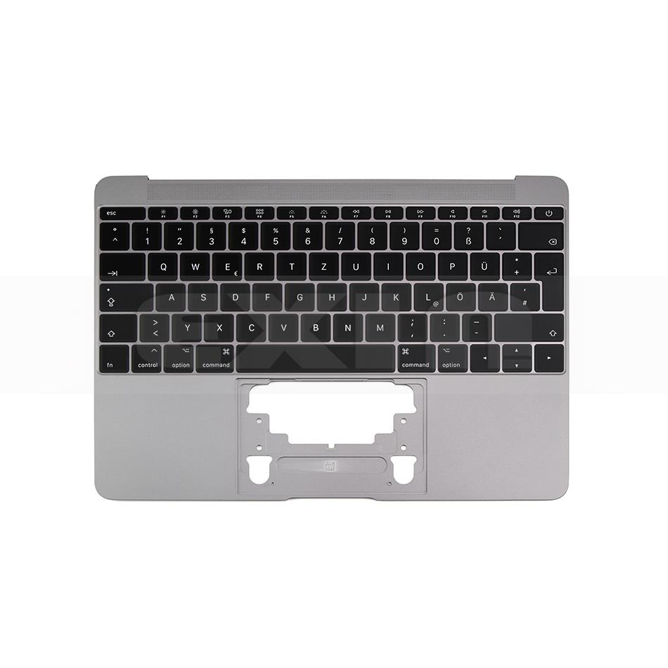 Image 2 - For Macbook 12 A1534 German Germany Deutsch Keyboard with  Topcase Top Case Gold/Gray Grey/Silver/Rose Gold Color 2015  2017Computer Cables