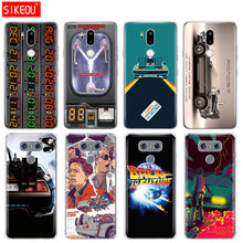Custodia in silicone della copertura del telefono per LG G7 Q8 Q6 G6 MINI G5 V30 V7 V9 k10 k8 X POWER 2 back to the Future DeLorean Macchina del Tempo(China)