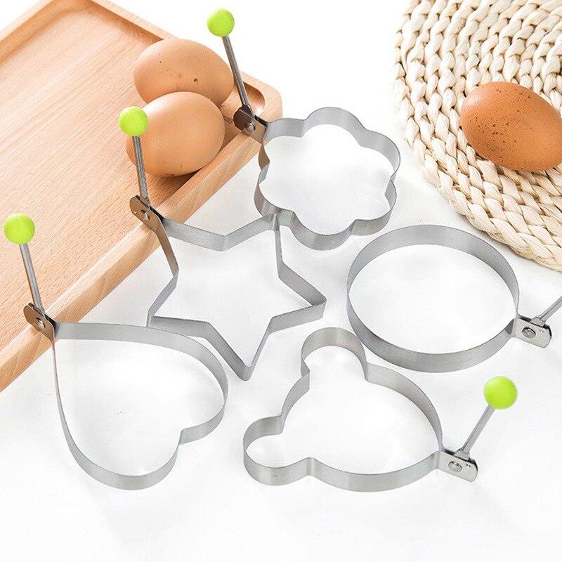 1PC Stainless Steel Omelette Egg Frying Mold Love Round Star Molds DIY Breakfast Egg Pancake Device Home Kitchen Gadget Egg Tool in Egg Pancake Rings from Home Garden
