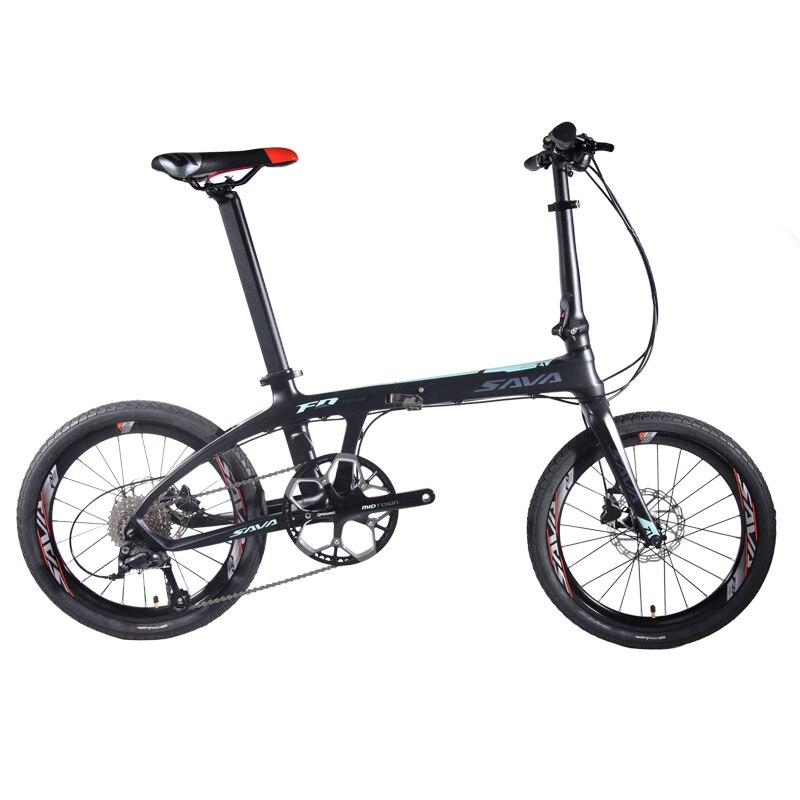 HTB1X3LMXffsK1RjSszbq6AqBXXac SAVA Folding Bike Adult Folding Bicycle 20 inch Carbon Fiber Bike Foldable Mini Carbon City Bike Folding bicwith SHIMANO SORA 9s