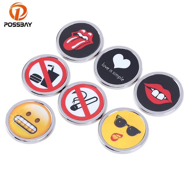 Possbay round shape car stickers funny logo emblem badge decals universal for car motor window door
