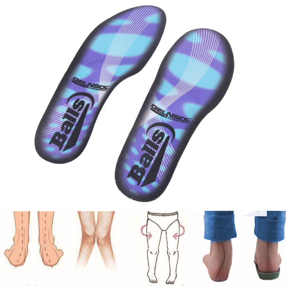 1Pair Foot Massage Arch Support Insoles Pu Gel Orthotic Insole/'Correct Flat F TE