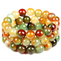 Green Malachite beads bracelet Quartz Agate Natural stones bracelet Fashion jewelry wholesale