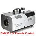 1500 W RGB 3in1 (6 piezas/9 piezas LED) máquina de humo remoto o alambre de Control/DMX512 etapa máquina de niebla