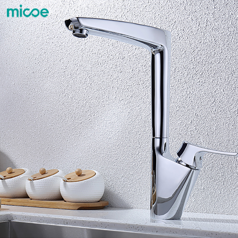 Micoe New  Kitchen Faucets Mixers Kitchen Faucet Taps Hot And Cold And Water Faucets Chrome Sink Faucets H-HC112