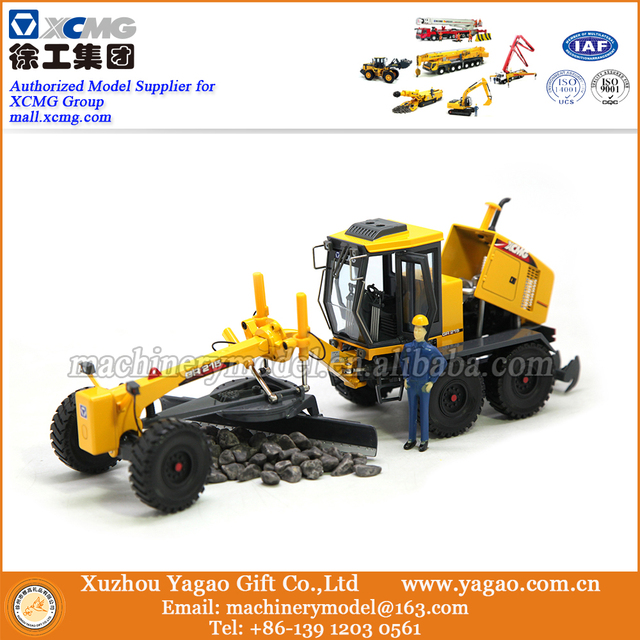 1:35 Scale Model, Diecast, Construction Model, XCMG GR215 Grader Model, Zinc Alloy Model,  Replica, Gift