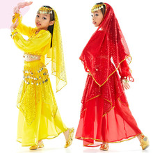 Hot Sales Belly Dancer Suit Childrens Dance Bollywood Indian Dancewear Performance Clothing