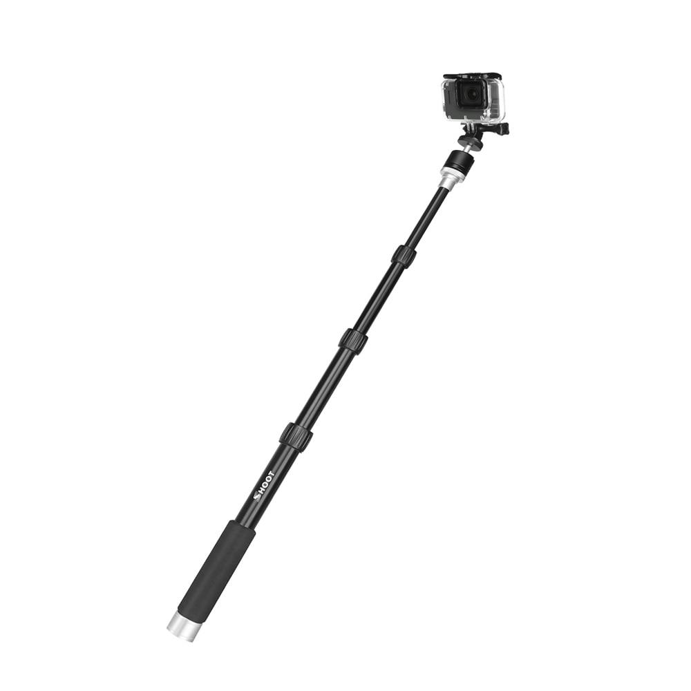 96cm Portable Aluminum Camera Monopod for GoPro Hero 7 6 5 4 Xiaomi Yi 4K Canon H9 dslr Selfie Stick With Ball Head